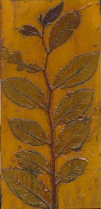 Cotoneaster 2 Plate, a collagraph printing plate.